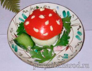 Гриб мухомор из яиц